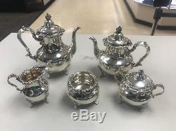 Strasbourg by Gorham #1141-1145 5 Piece Tea & Coffee Sterling Silver Set