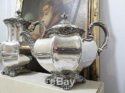 Stunning J. E. Caldwell & Co. Antique Sterling Silver Tea Set. 5 Pieces. Phila