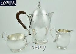 Superb Art Deco Mappin & Webb Sterling Solid Silver Three Piece Tea Set 1933