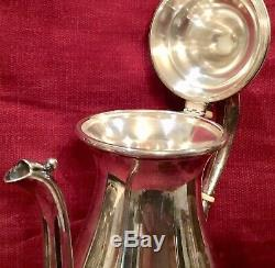 TEA SET Vintage Fisher Sterling Silver Unweighted MONO D On Teapot 675 Gm