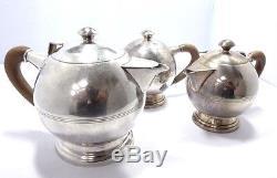Teeservice tea set 925 SILBER silver Kaffeekanne Zuckerdose Teekanne coffee