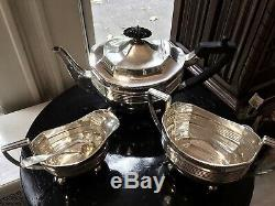 Thomas Bradbury English Sterling Silver Tea Set London c. 1897 Makers Mark T B