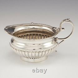Three Piece Sterling Silver Tea Set Sheffield 1892