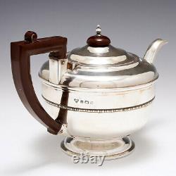 Three Piece Sterling Silver Tea Set by Selfridge and Co Birmingham 1933