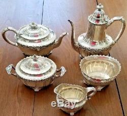 Tiffany 1893 Columbian Expo Sterling Silver ENGLISH KING 5 Pc Coffee & Tea Set