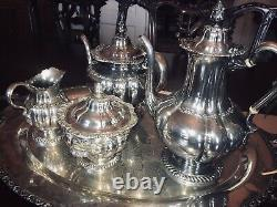 Tiffany And Co Tea Set 5 Pieces Marked Numbers Maker Chrysanthemum 1880 Pat