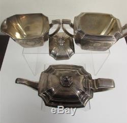 Tiffany & Co Makers Sterling Silver 925 Monogrammed Hampton Tea Set