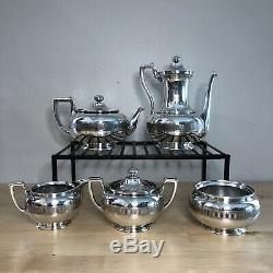 Tiffany & Co. Sterling Silver Tea And Coffee Set, 5-piece, 1865, Greek Revival