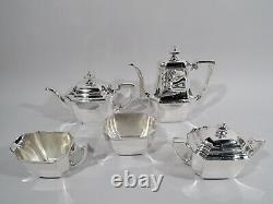 Tiffany Hampton Coffee & Tea Set 18389 5 Piece American Sterling Silver