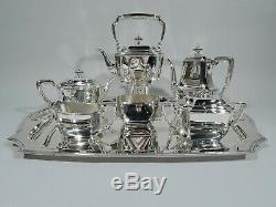 Tiffany Hampton Coffee & Tea Set Tray 18389 19289 American Sterling Silver