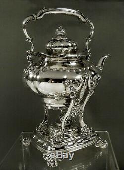 Tiffany Sterling Tea Set Tea Kettle c1895 Art Nouveau 80 Ounces