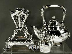 Tiffany Sterling Tea Set WAVE EDGE 86 OZ