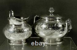 Tiffany Sterling Tea Set c1870 PERSIAN PATTERN