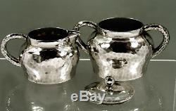 Tiffany Sterling Tea Set c1876 Japanese Manner Hand Hammered