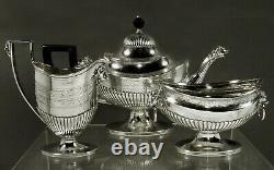 Tiffany Sterling Tea Set c1885 GREEK REVIVAL