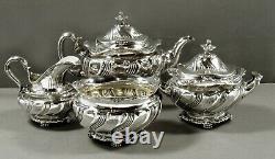 Tiffany Sterling Tea Set c1890 LION FEET