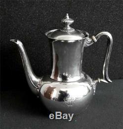 Tiffany sterling silver tea and coffee set art deco design