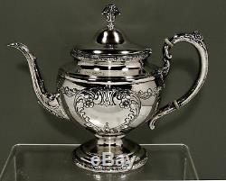 Towle Sterling Silver Tea Set c1950 OLD MASTER PATTERN 61 OUNCES