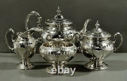Towle Sterling Tea Set c1945 ROYAL WINDSOR NO MONO