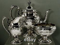 Towle Sterling Tea Set c1950 OLD MASTER HAND CHASED