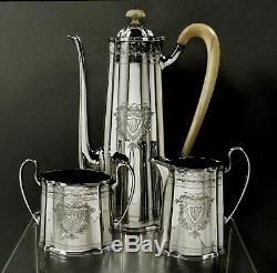 Tuttle Sterling Silver Tea Set c1940 Boston