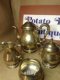 VINTAGE PRELUDE INTERNATIONAL STERLING TEA SET 5pcs. 2353 GRAMS