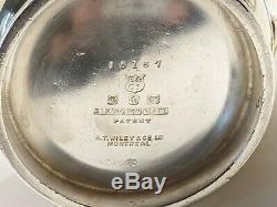 Very Rare Canadian Pacific Railroad Cpr Elkington & Co Silver Plate Tea Set