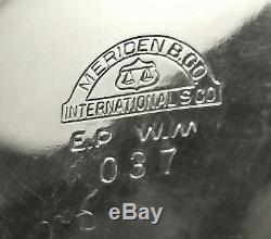 Victorian Art Deco Meriden International Silver Plated 4 pc Tea Set c1940