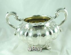 Victorian Silver Tea Set John Keith London 1858 1465g GEZX