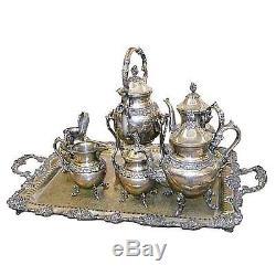 Victorian Tea Set, 7-Pc. Silverplate #5859