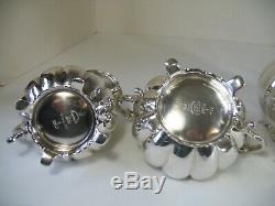 Vintage 5pc James Dixon & Sons Sheffield Silver Plate Coffee Tea Set