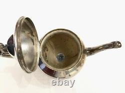 Vintage Birmingham Silver Co Tea Coffee Service 5 Piece Set Tray Silverplate