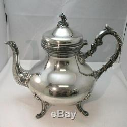Vintage Camusso Peruvian Sterling Silver Full Tea & Coffee Service Set with Tray