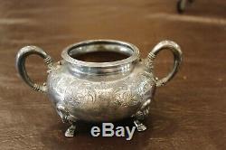 Vintage E. G. Webster Spiderweb Quadruple Plate 5 Piece Tea Set #135