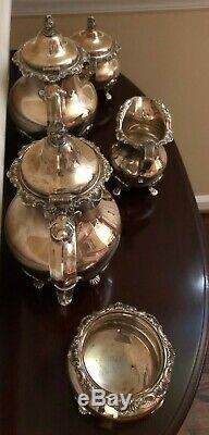 Vintage Gorham 5 Piece Sterling Silver Tea Set