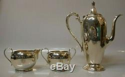 Vintage Gorham Sterling Silver 3 Piece Tea Set Monogrammed B