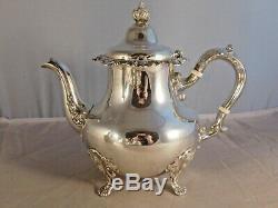 Vintage Gorham Strasbourg Sterling Silver Tea & Coffee 5 Piece Serving Set