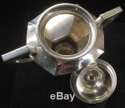 Vintage Japanese Jungin 3pc Sterling Silver Tea Set TW-1,650 Grams, 58.1oz