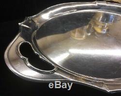 Vintage K Uyeda Japanese. 950 Solid Sterling Silver Tea Set Tray Serving Platter