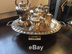 Vintage Maciel Sterling Silver 8 piece tea service set RARE
