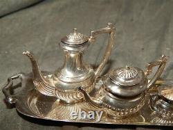 Vintage Miniature Sterling silver 8 piece Coffee & Tea set British Hallmarks