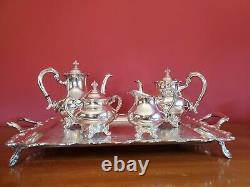 Vintage Reed & Barton Regent 5600 Silverplate Tea Set With Tray