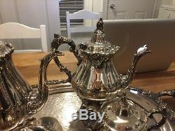 Vintage Silver Tea Set Baroque By Wallace 294F