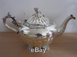Vintage Stunning Goldfeder Co. Fancy large silver plate 7pc Tea Service set