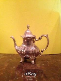 Vintage Towle -Silver plated coffee/tea set with large tray