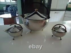 Vintage carsten jorgenson bodum teapot milk jug sugar bowl teaball teaset