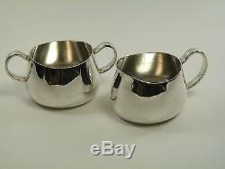WALKER & HALL Silver Plate PRIDE Pattern 4 Piece Tea Set