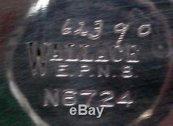 WALLACE Silver Company N6724 silverplate 4-piece TEA Set TEAPOT, Ceamer, SUGAR
