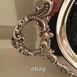 WALLACE Silverplate 5 piece Tea Coffee Set Vintage Silver Teapot Coffeepot