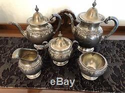 WALLACE Stradivari Sterling Silver 5-Piece Coffee / Tea Service Set